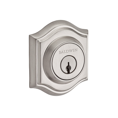 Baldwin Reserve Tradional Arch Deadbolt shown in Satin Nickel (150)
