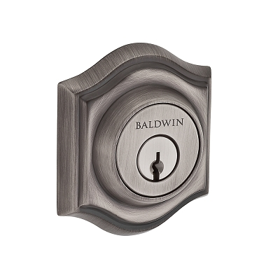 Baldwin Reserve Tradional Arch Deadbolt shown in Matte Antique Nickel (152)