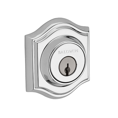 Baldwin Reserve Tradional Arch Deadbolt shown in Polished Brass (260)
