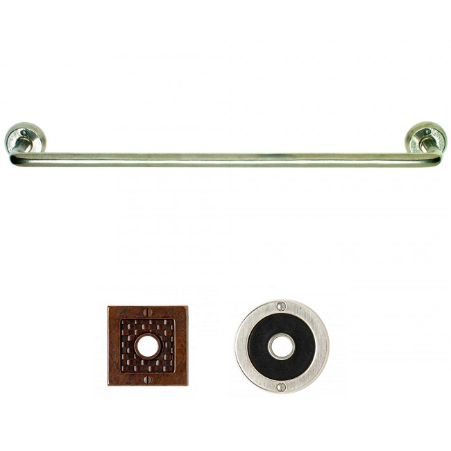 Rocky Mountain Continuous Bath Towel Bar TB2 (Designer Escutcheon)