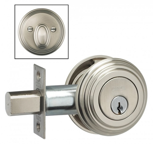 Omnia TRADDB Traditional Auxillary Deadbolt from the Prodigy Collection