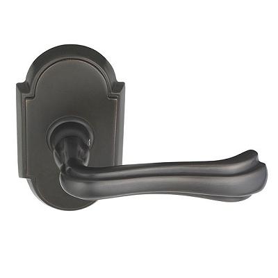 Emtek Wembley Door lever with #8 rose Oil Rubbed Bronze (US10B)