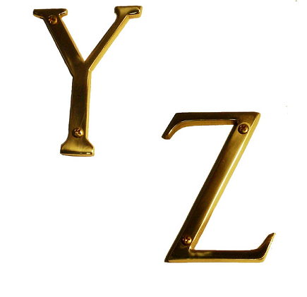 Brass Accents Traditional House Numbers